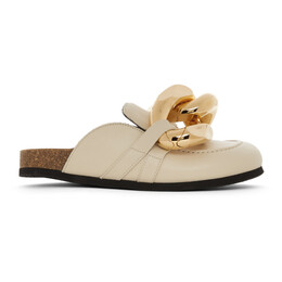 J.W. Anderson Beige Chain Slippers AN35004A 13000