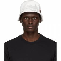 Dolce and Gabbana Off-White and Grey Camo Bucket Hat GH693Z FU7DU