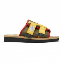 Suicoke Green and Beige KAW-CAB Sandals OG-081Cab / KAW-Cab