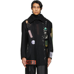 Raf Simons Black Sterling Ruby Edition Patches Jacket A01-608
