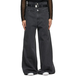 Raf Simons Black Oversized Wide Jeans A01-306