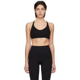 Live The Process Black Corset Grid Sports Bra 425