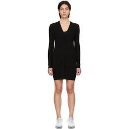 Live The Process Black Knit Robe Dress 759