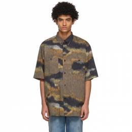 Acne Studios Brown and Black Graphic Short Sleeve Shirt BB0358-
