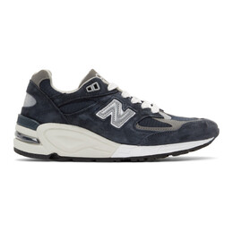 New Balance Navy Made In US 990v2 Sneakers M990NV2