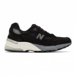New Balance Black Made In US 992 Sneakers M992BL