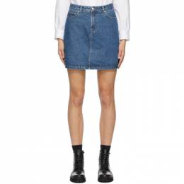 A.P.C. Blue Denim Standard Skirt COEJU-F06094
