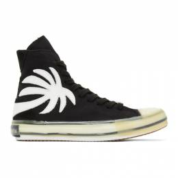 Palm Angels Black Vulcanized Palm Sneakers PMIA048R21LEA0021001