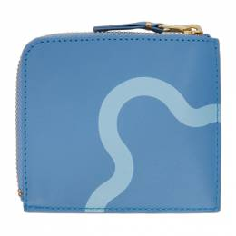 Blue Ruby Eyes Half-Zip Wallet SA3100RE Comme des Garcons Wallets