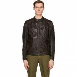 Belstaff Brown Leather Racer 2.0 Jacket 71020817