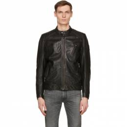 Belstaff Black Leather Racer 2.0 Jacket 71020817