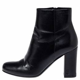 Saint Laurent Black Leather Loulou Zipped Ankle Boots Size 35 390714 Saint Laurent Paris