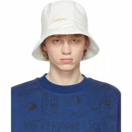 We11Done White Seven-Panel Bucket Hat WD-AH0-21-004-U-WH