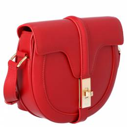 Celine Red Calfskin Leather Small Besace 16 Bag 392868