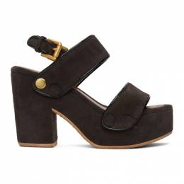 See by Chloe Brown Suede Galy Heeled Sandals SB36023A 13062