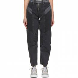 McQ Alexander McQueen Grey Motor Paneled Jeans 643793RQD02