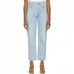Agolde Blue 90s Mid-Rise Loose Fit Jeans A069F-1141