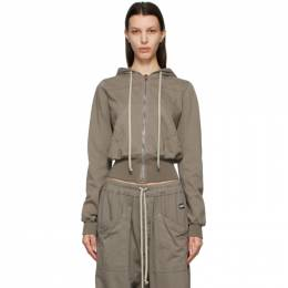 Rick Owens DRKSHDW Grey Small Rigolet Hoodie DS21S2225 RIG