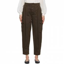 See by Chloe Brown Large Pocket Army Trousers CHS21SDP09165