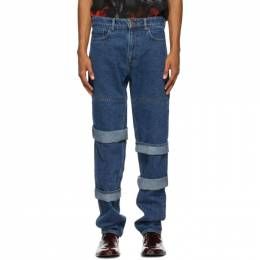 Y / Project Navy Classic Multi Cuff Jeans JEAN5-S20