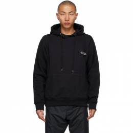 Wooyoungmi Black Embroidered Logo Hoodie TS31