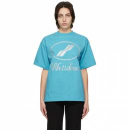 We11Done Blue Logo T-Shirt WD-TP5-19-930-BL