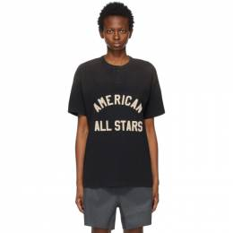 Fear Of God Black All Stars Henley T-Shirt FG50-017CTJ