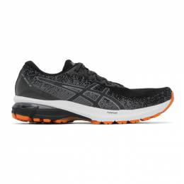 Asics Black and Grey GT-2000 9 Knit Sneakers 1011A989