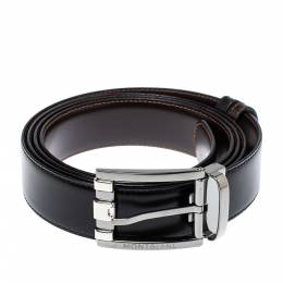 Montblanc Black/Brown Leather Casual Line Reversible Belt 105CM 398851