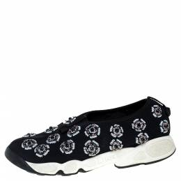 Dior Black Mesh Fusion Embellished Slip On Sneakers Size 39 398776