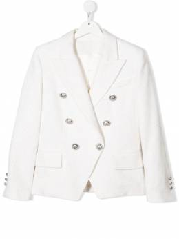 Balmain Kids sequin-embellished double-breasted blazer 6O2060TOA780