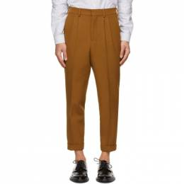 Ami Alexandre Mattiussi Brown Carrot Fit Trousers E21HT402.286