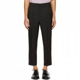 Ami Alexandre Mattiussi Black Tropical Wool Carrot Fit Trousers E21HT402.279