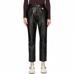 Courreges Black Vinyl Trousers 121CPA008VY0003