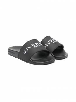Givenchy Kids шлепанцы с логотипом H29M17