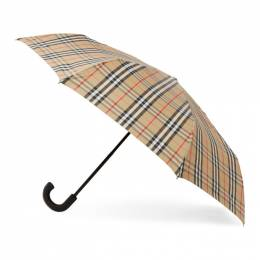 Burberry Beige Vintage Check Trafalger Umbrella 8024782
