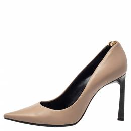 Lanvin Beige Leather Pointed Toe Pumps Size 40 401294