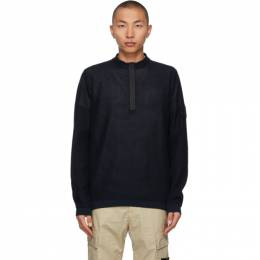 Stone Island Shadow Project Navy Light Mesh Knit Sweater 7419507A3