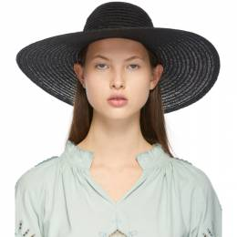 Maison Michel Black Hemp Blanche Hat 1004039003