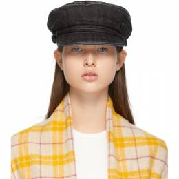 Maison Michel Black Denim New Abby Cap 2419004001