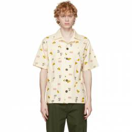 Off-White All Over Print Pajama Short Sleeve Shirt CLSH21SS2015 Clot