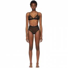 Gucci Black Tulle GG Lingerie Set 599496 XUAAW