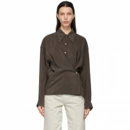 Lemaire SSENSE Exclusive Taupe Twisted Shirt W 211 SH254 LF208