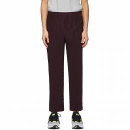 Homme Plisse Issey Miyake Purple Tailored Pleats 1 Trousers HP16JF208