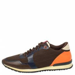 Carolina Herrera Multicolor Leather And Canvas Low Top Sneakers Size 43 402325
