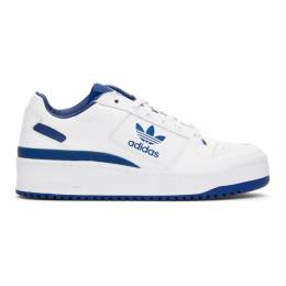 Adidas Originals Blue and White Forum Bold Sneakers FY4530