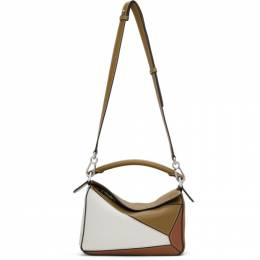 Loewe Khaki and Tan Small Puzzle Bag A510S21X55