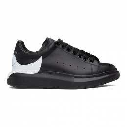 Alexander McQueen Black and White Oversized Sneakers 645863WHZ4L
