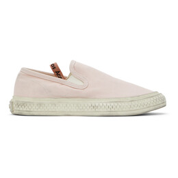 Acne Studios Pink Canvas Slip-On Sneakers AD0377-