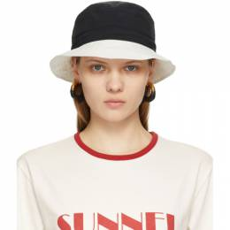 Sunnei Black and White Bucket Hat SN1PXY01AP-TE886.999